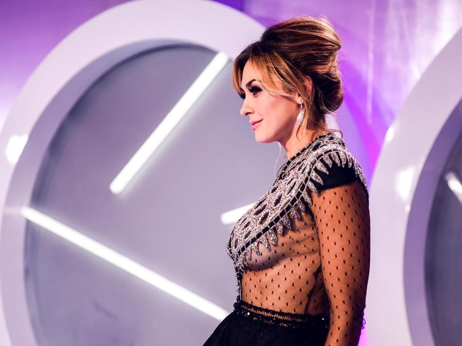 Aracely Arámbula en la alfombra de Premios Tu Mundo 2016