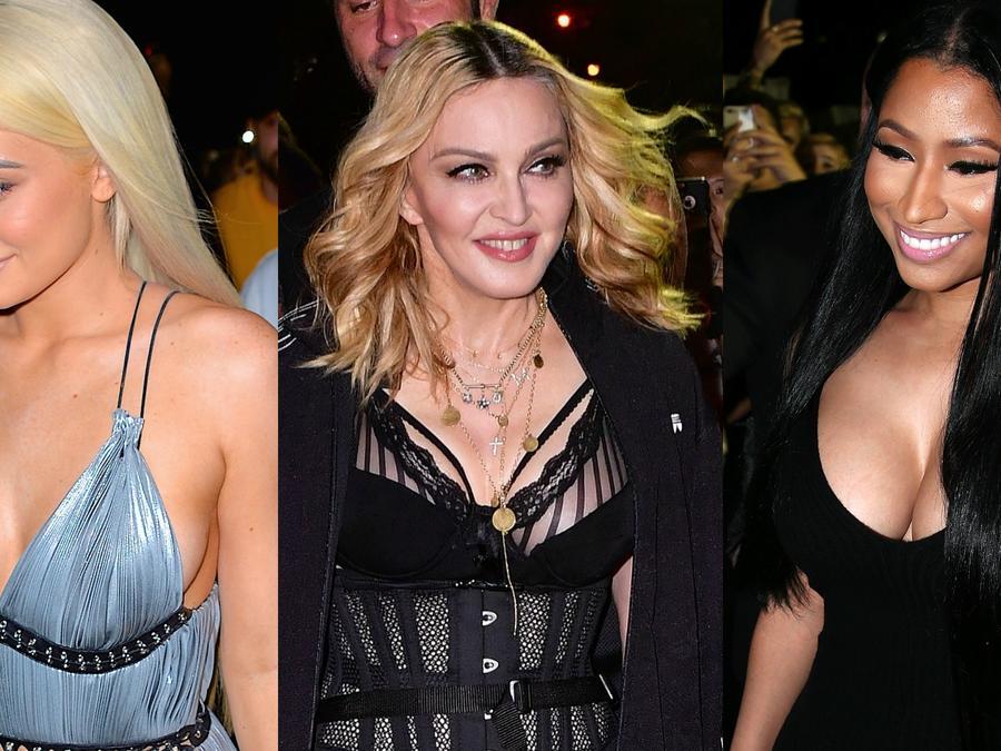 Kylie Jenner, Madonna y Nicki Minaj llegando al desfile de Alexander Wang en el NYFW.