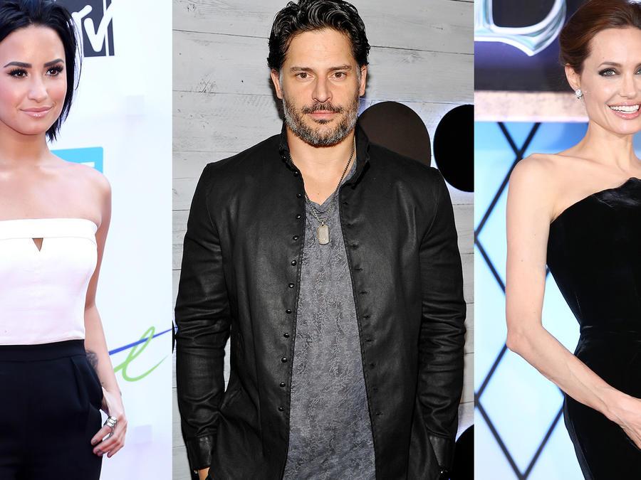 Demi Lovato, Joe Mangianello y Angelina Jolie