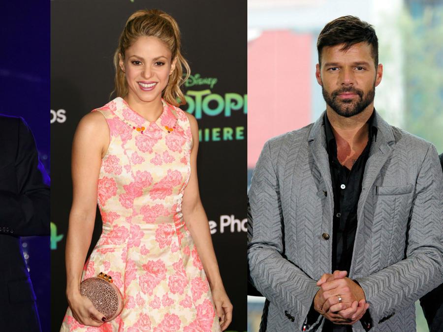 Johnny Depp, Shakira y Ricky Martin
