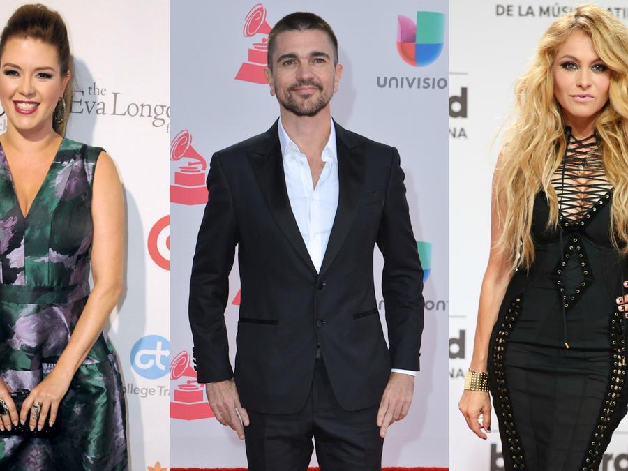 Alicia Machado, Juanes, Paulina Rubio