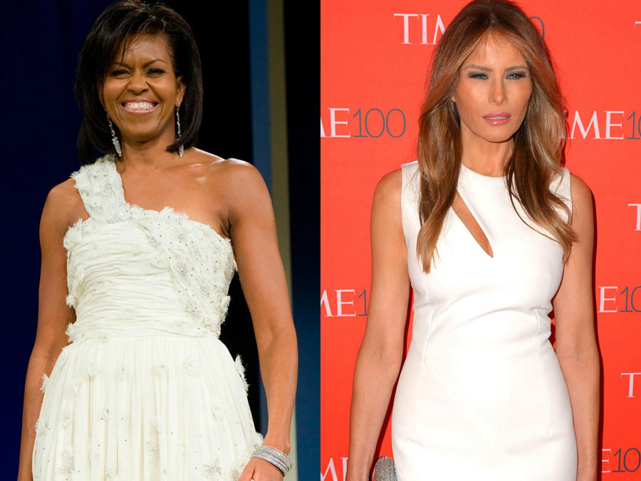 Melania Trump y Michelle Obama.