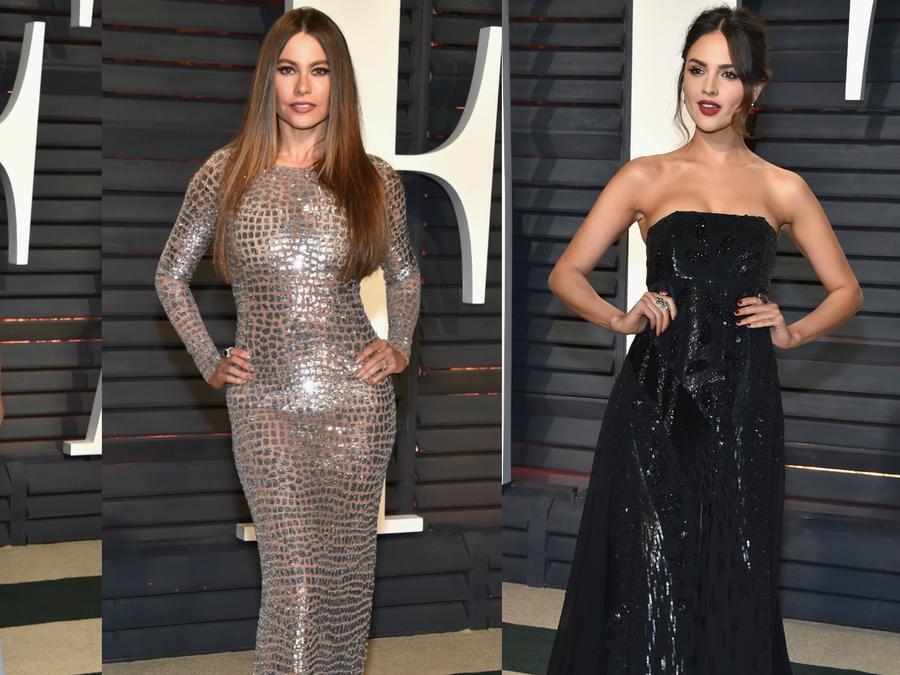 Jessica Alba, Sofia Vergara, Eiza Gonzales en la fiesta de Vanity Fair en febrero de 2017.