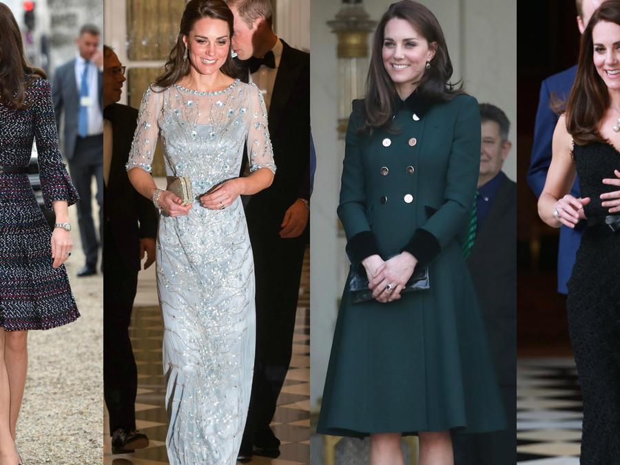Cuatro looks que lució Kate Middleton en su visita a Paris en marzo de 2017.