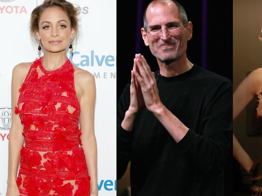 Nicole Ritchie, Steve Jobs, y Marilyn Monroe.
