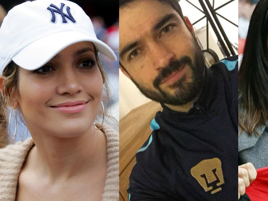 Collage de Jennifer Lopez, Salma Hayek y Poncho Herrera.