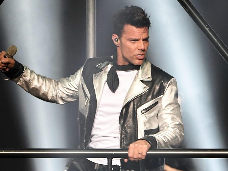"""Ricky Martin en la primera noche de su residencia en Las Vegas """"All In"""" en 2017."""