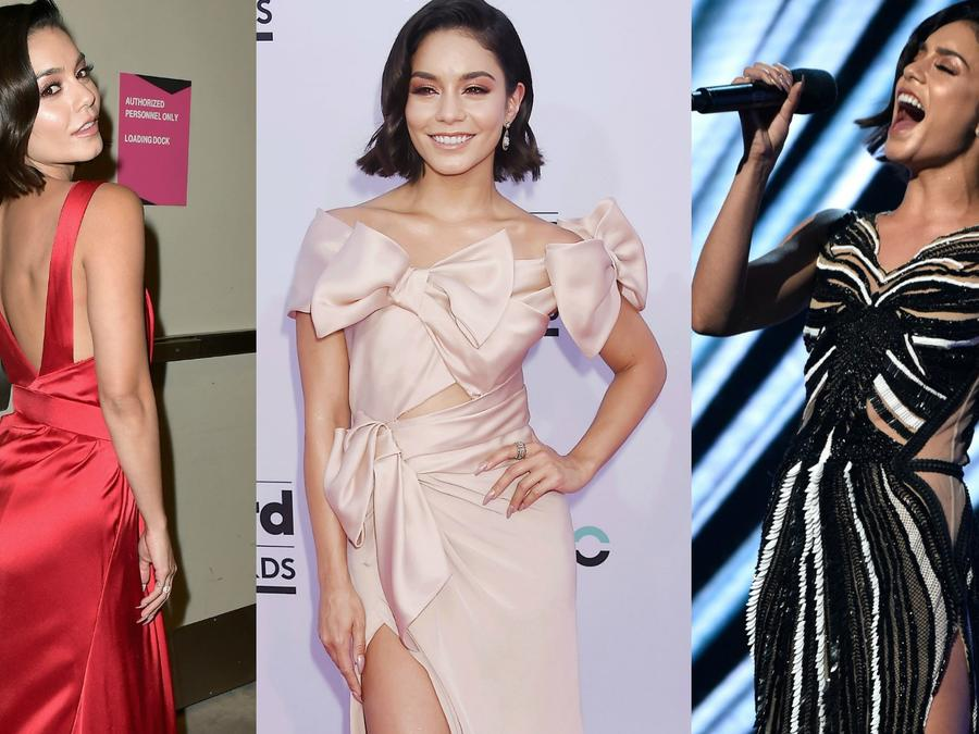 Collage de Vanessa Hudgens en los Billboard Awards 2017.