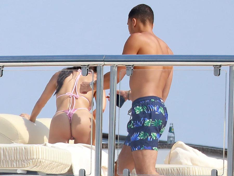 Kourtney Kardashian y su novio Younes Bendjima