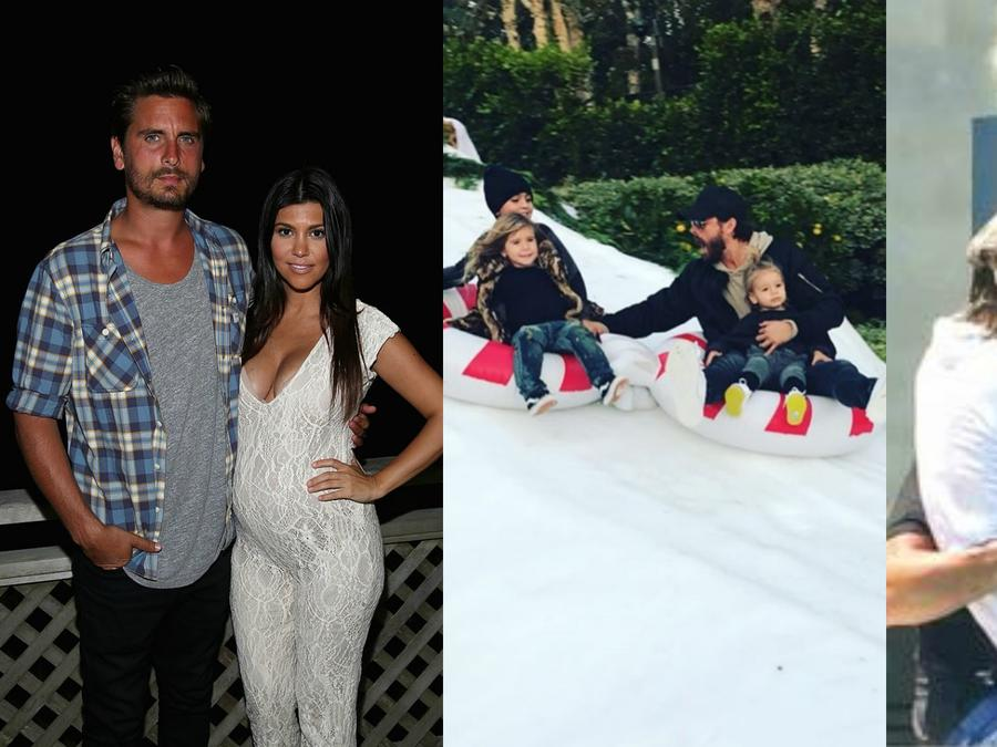 Collage de fotos de Scott Disick.