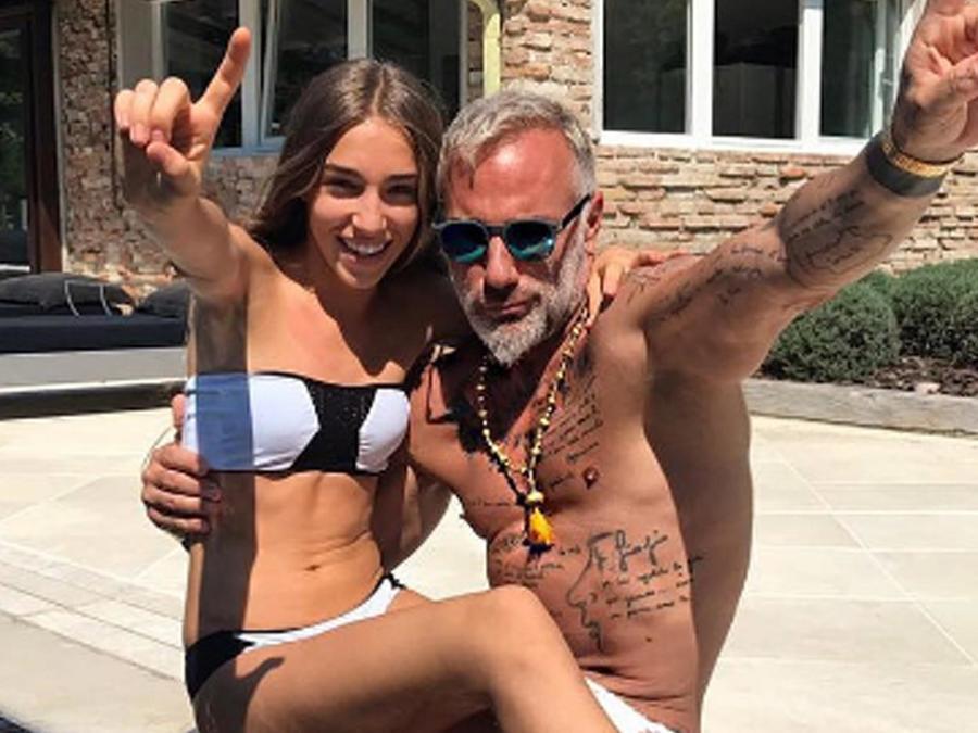 Gianluca Vacchi y su hijastra Ginevra Mavilla
