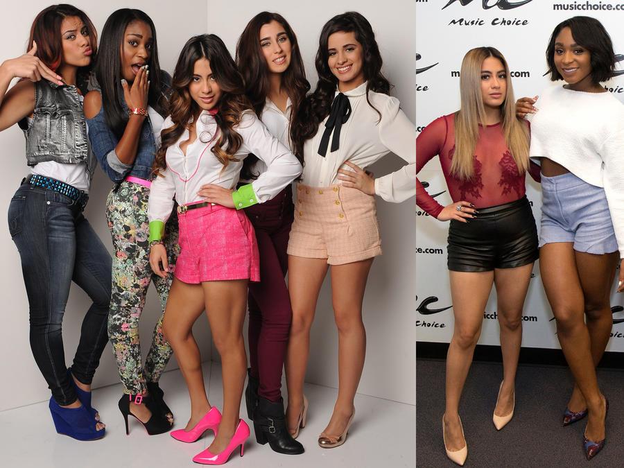 Collage de Fifth Harmony antes y después.