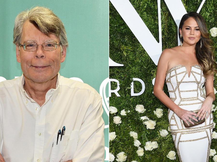 Stephen King y Chrissy Teigen