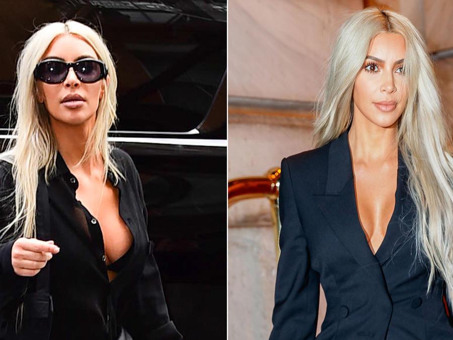 Collage escotes Kim Kardashian