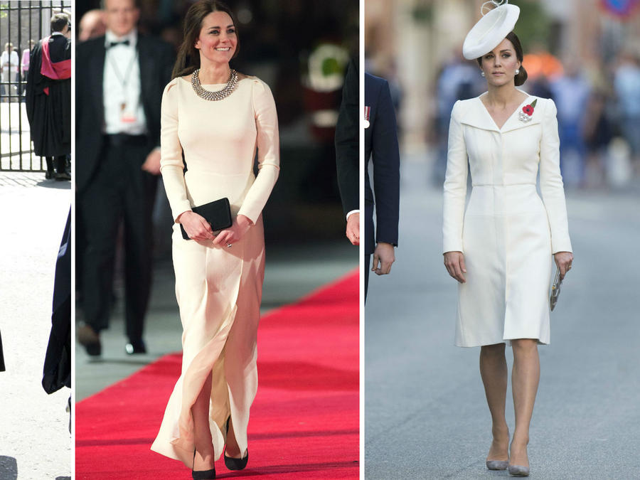 Collage evolución Kate Middleton