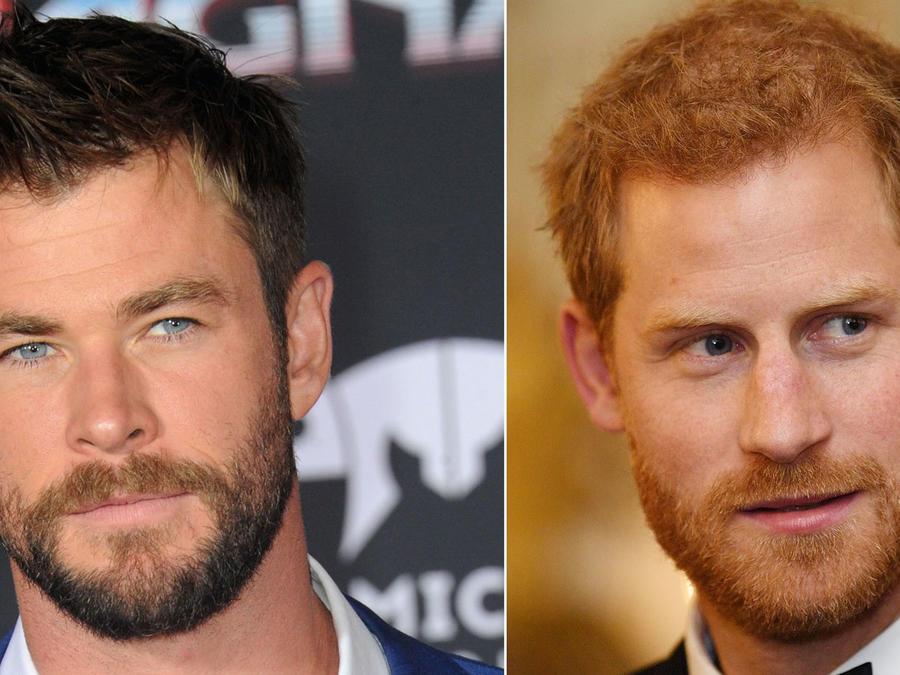 Chris Hemsworth y el príncipe Harry
