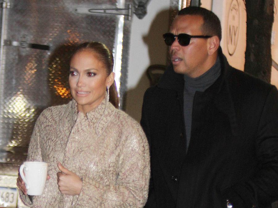 Jennifer Lopez con Alex Rodriguez en Nueva York