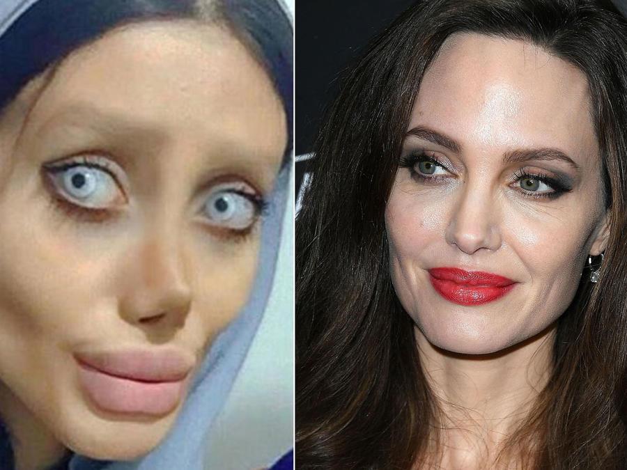Sahar Tabar y Angelina Jolie collage