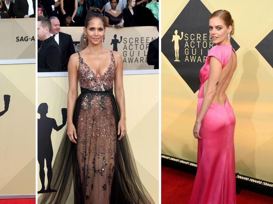 Collage actrices sexis en los SAG Awards 2018