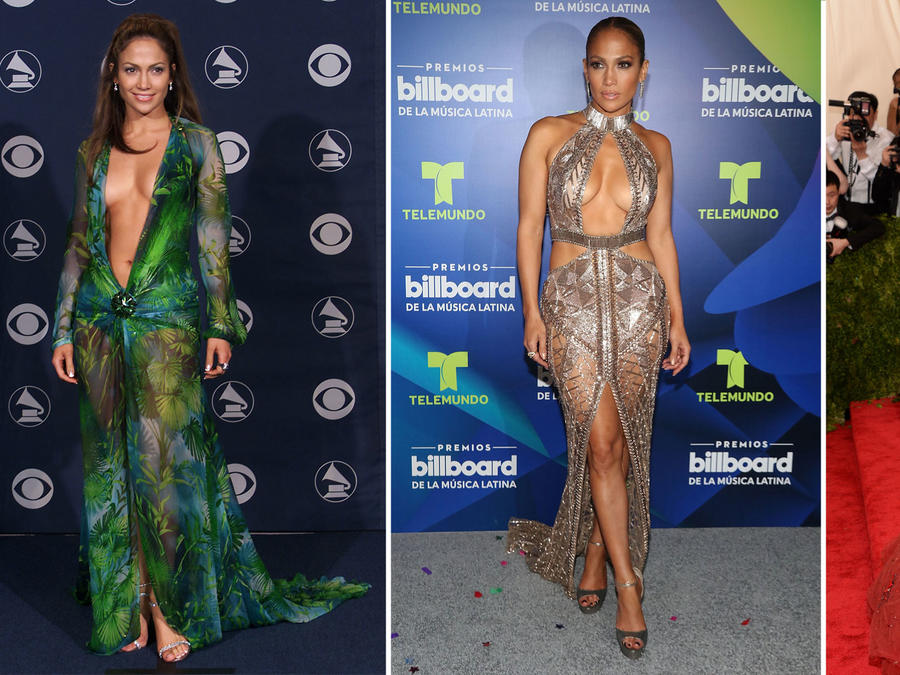 Collage JLo outfitis