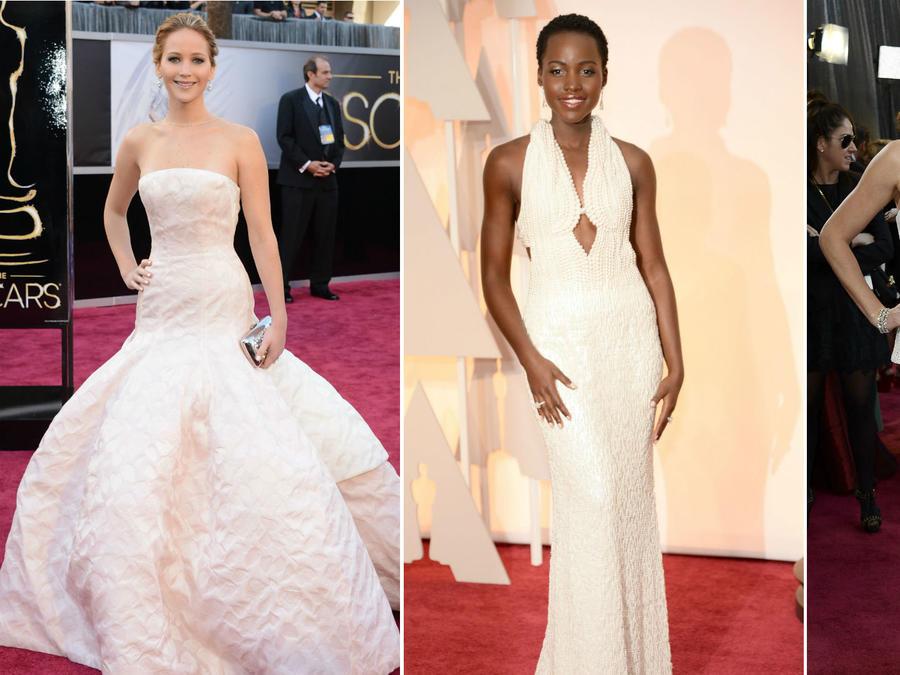 Collage los vestidos más caros en la historia de los premios Oscar