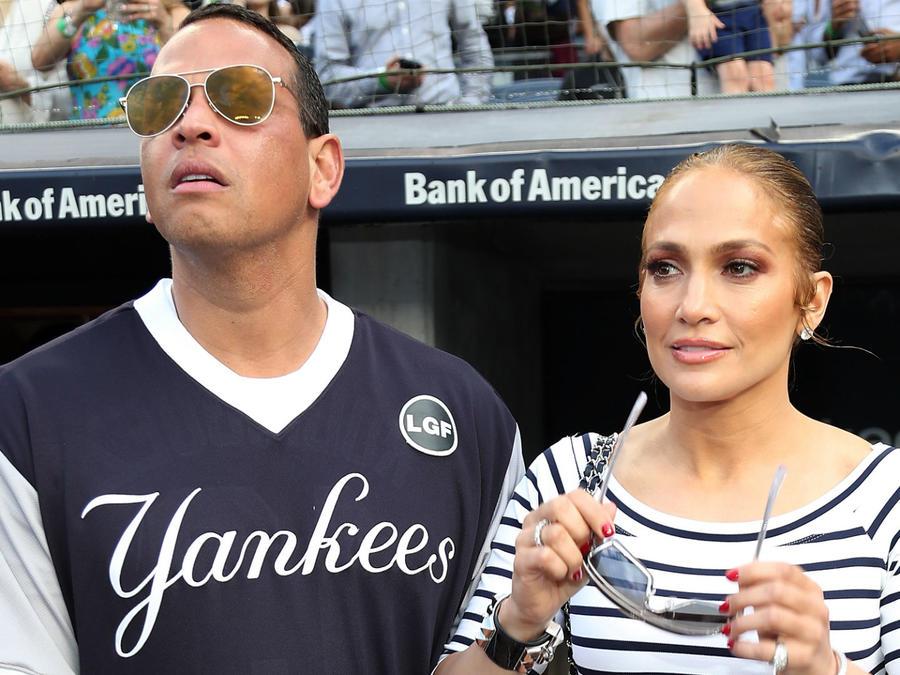Alex Rodriguez con Jennifer Lopez