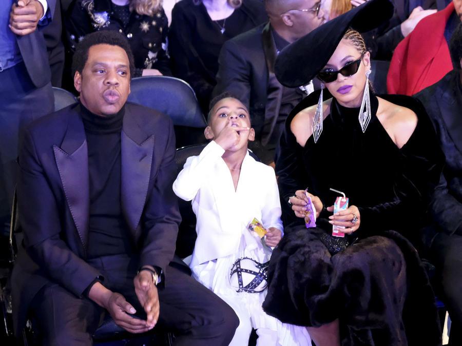 Beyonce con Jay-Z y Blue Ivy