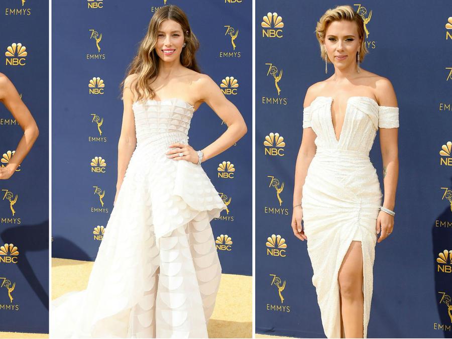 Collage mejores vestidos de los premios Emmy