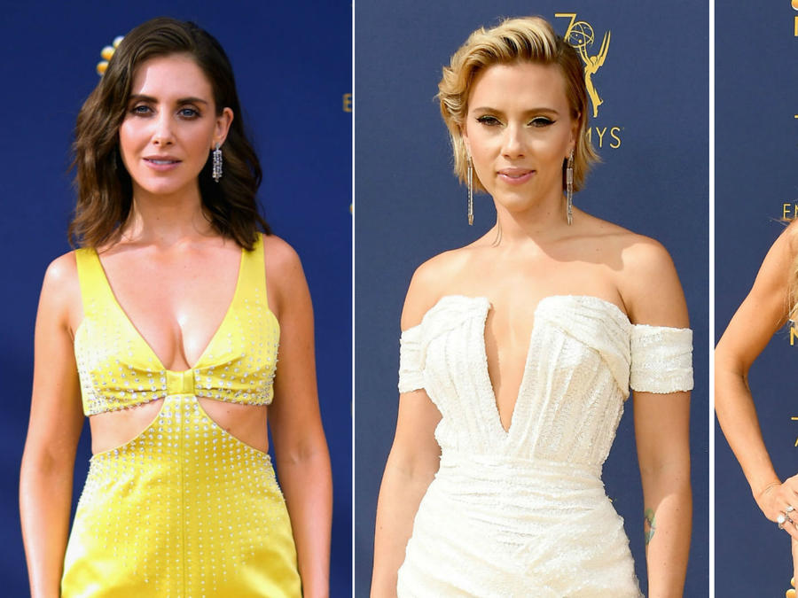 Collage looks sexis de los premios Emmy 2018