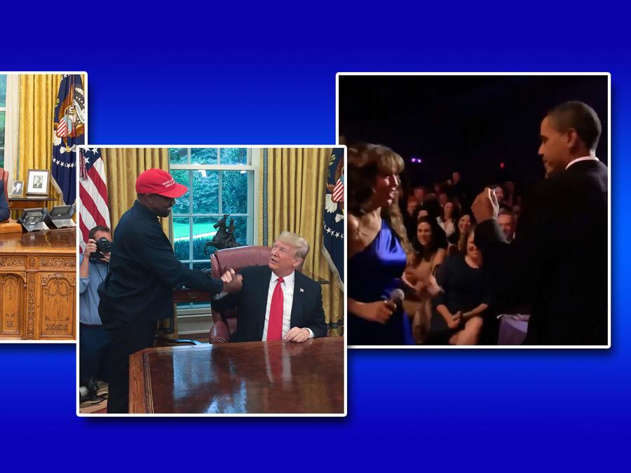 Famosos y presidentes