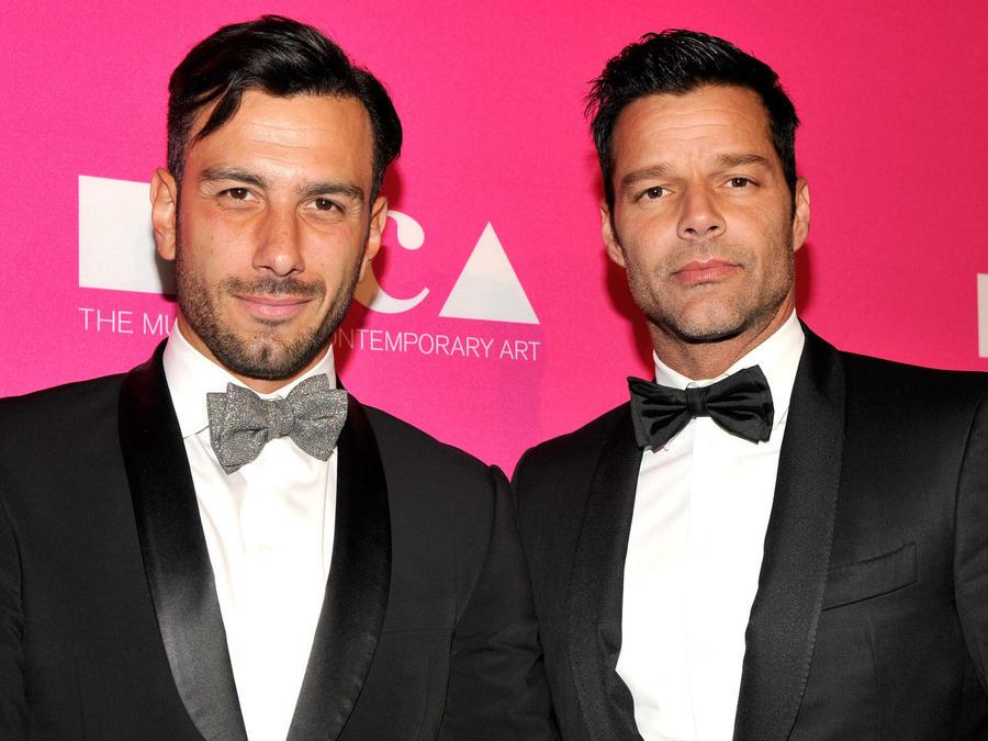 Jwan Yosef y Ricky Martin en MOCA Gala 2017