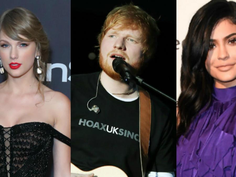 Taylor Swift, Ed Sheeran y Kylie Jenner