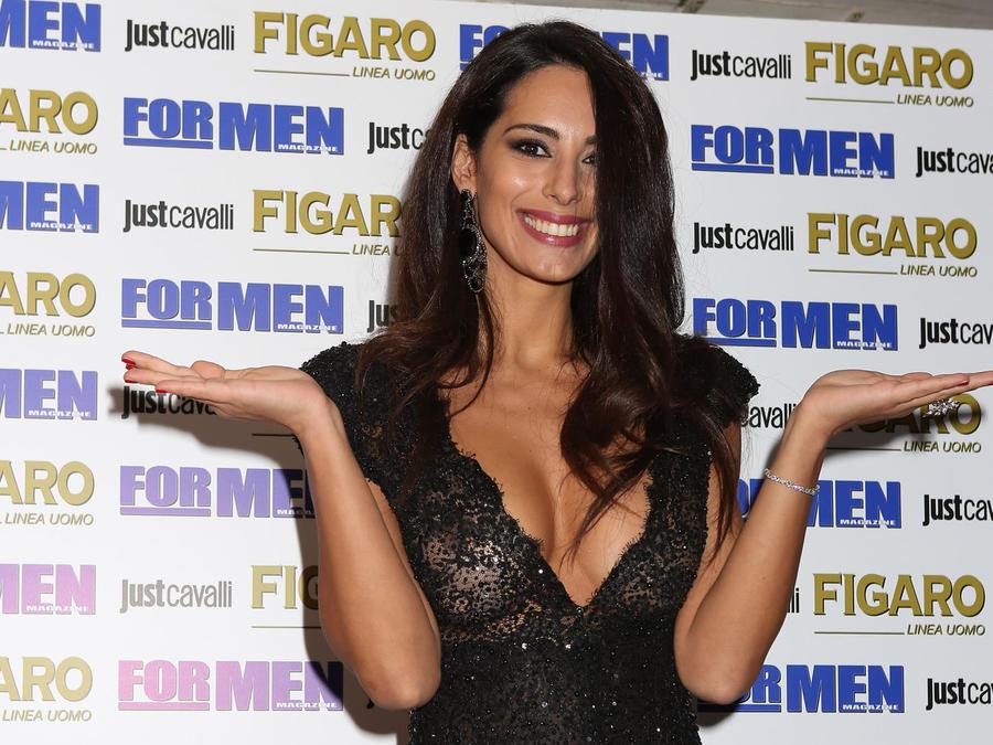 Raffaella Modugno en la presentación del calendario FOR MEN 2017