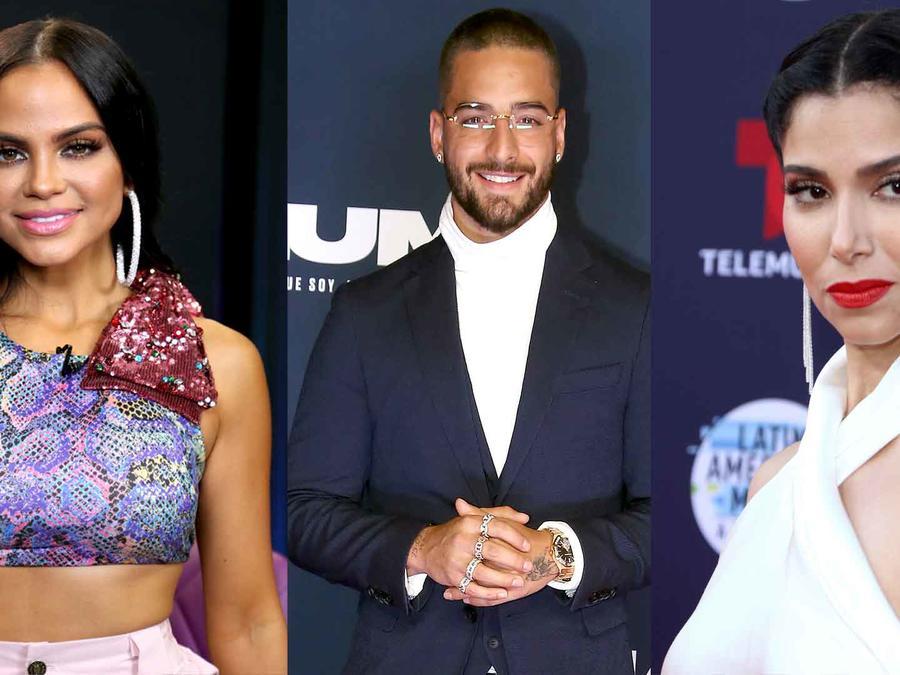 Natti Natasha, Maluma y Roselyn Sánchez