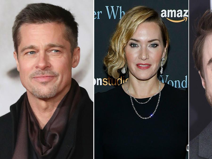 Brad Pitt, Kate Winslet y Daniel Radcliffe