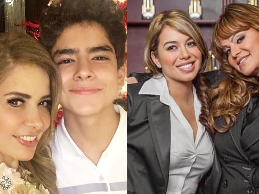Gloria Trevi y su hijo Ángel Gabriel, Jenni Rivera y Chiquis Rivera