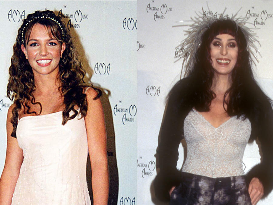 Britney Spears y Cher en los American Music Awards 1999