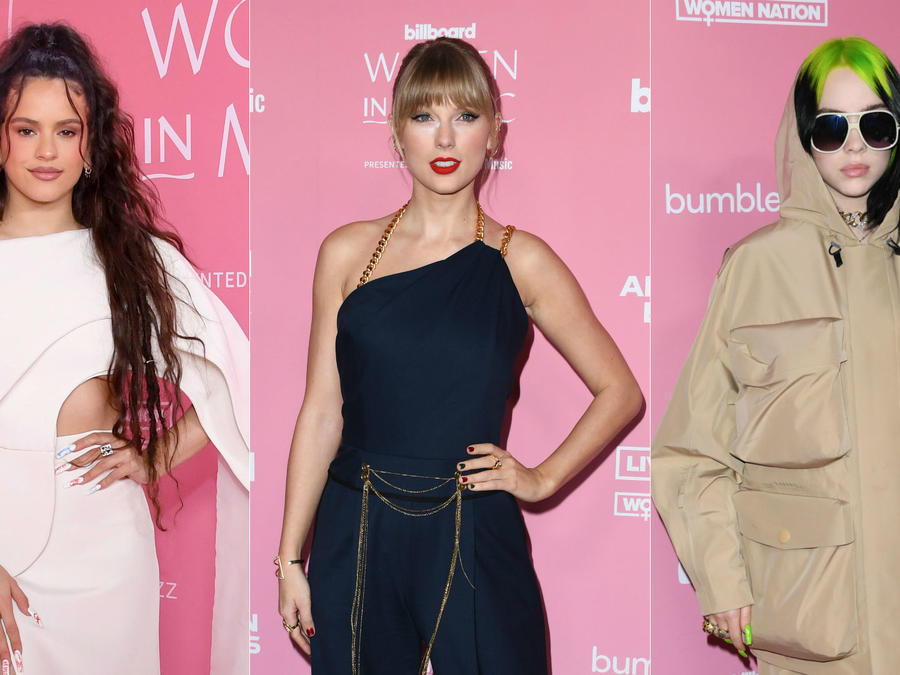 Rosalía, Taylor Swift y Billie Eilish en la alfombra roja de Billboard Women In Music 2019