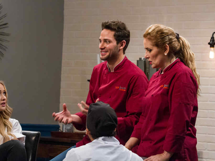 Gabriel Coronel y Judith Grace en Top Chef Estrellas
