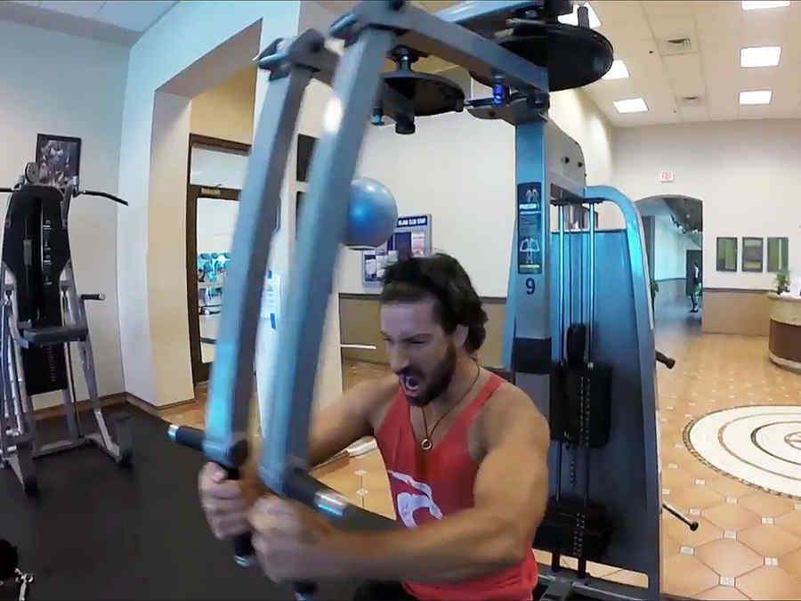 David Chocarro en el gimnasio