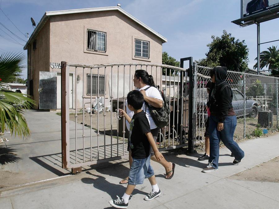 Familia de inmigrantes en California