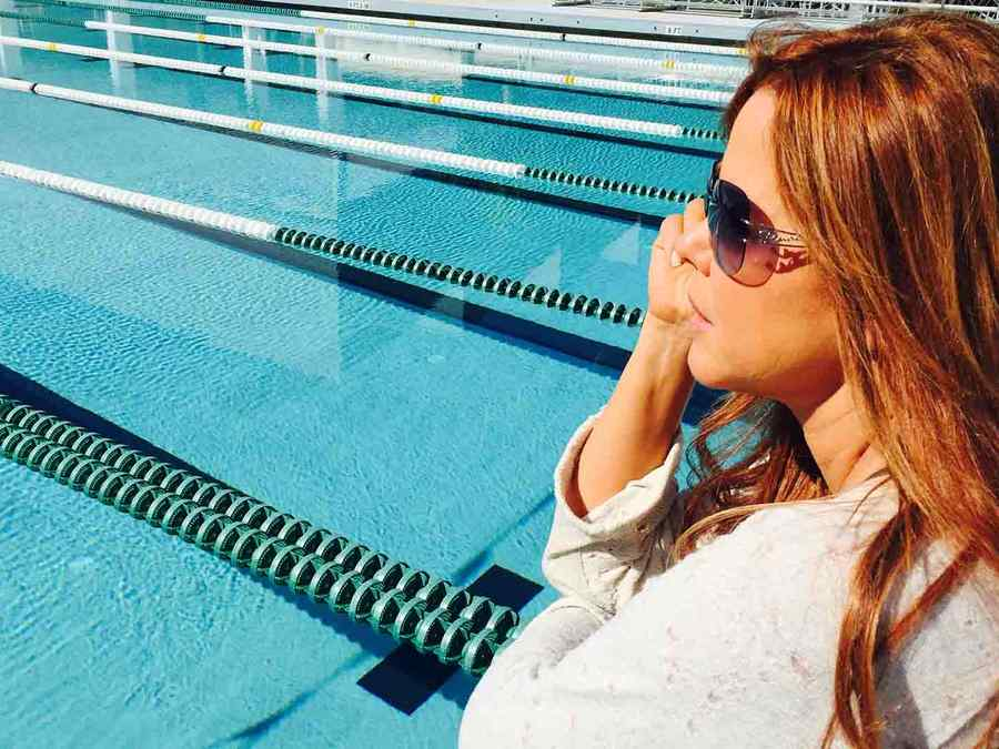 María Celeste recuerda sus días como campeona de natación