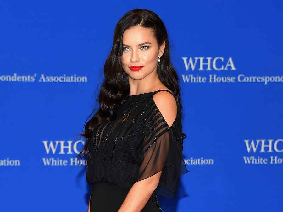 Adriana Lima en la cena de la Casa Blanca.