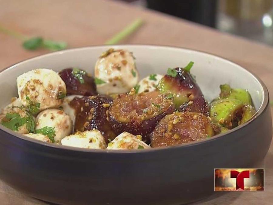tip de cocina: aprende a preparar una ensalada de higos y queso