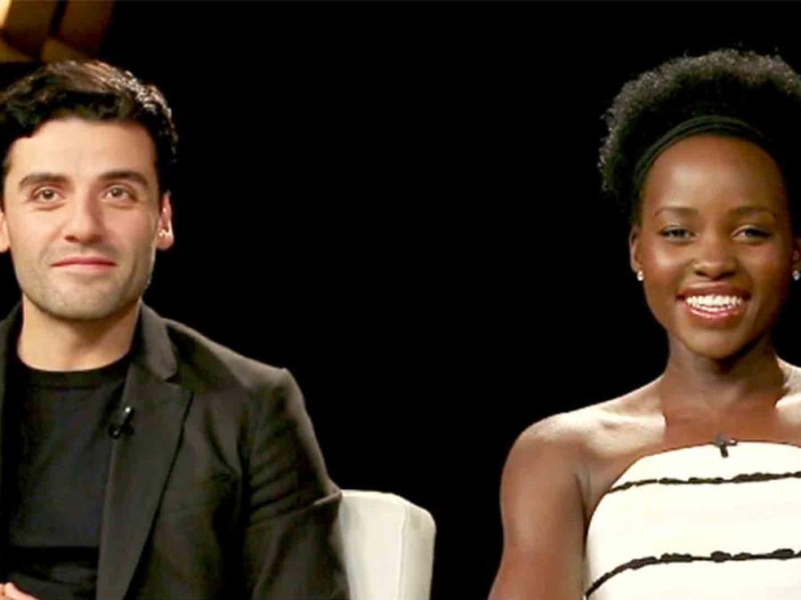 Lupita Nyong'o y Oscar Isaac