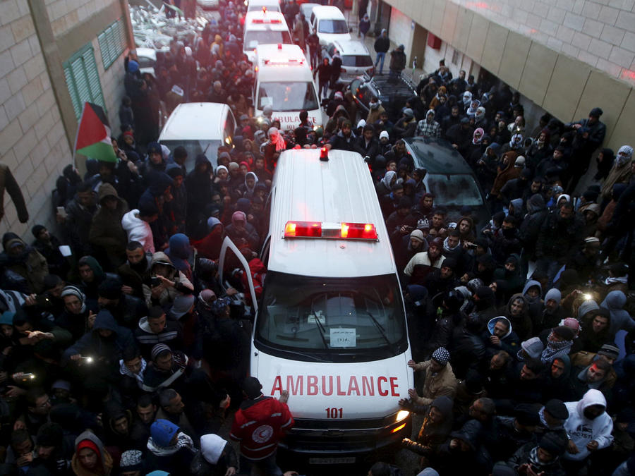 ambulancia tras tiroteo en israel