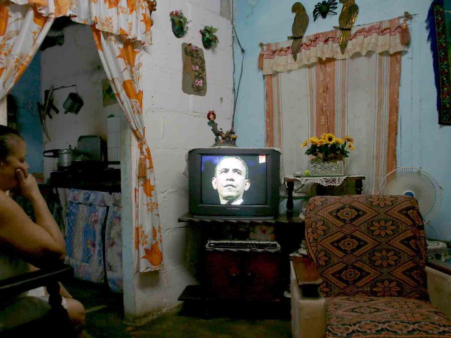 cubanos visita obama