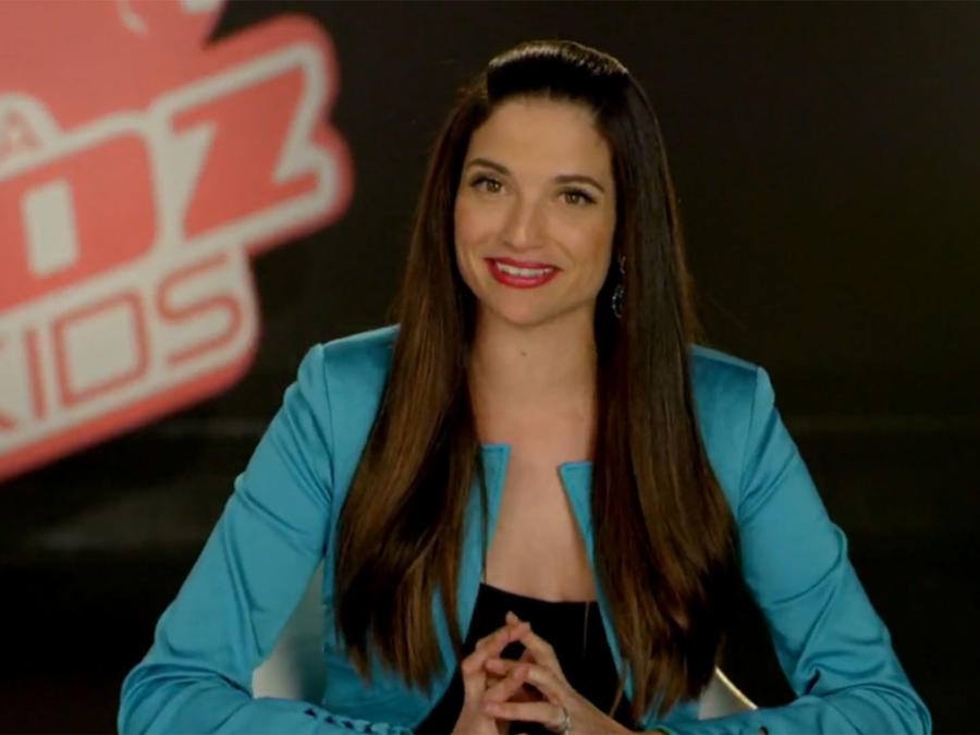 Natalia Jiménez en entrevista de La Voz Kids
