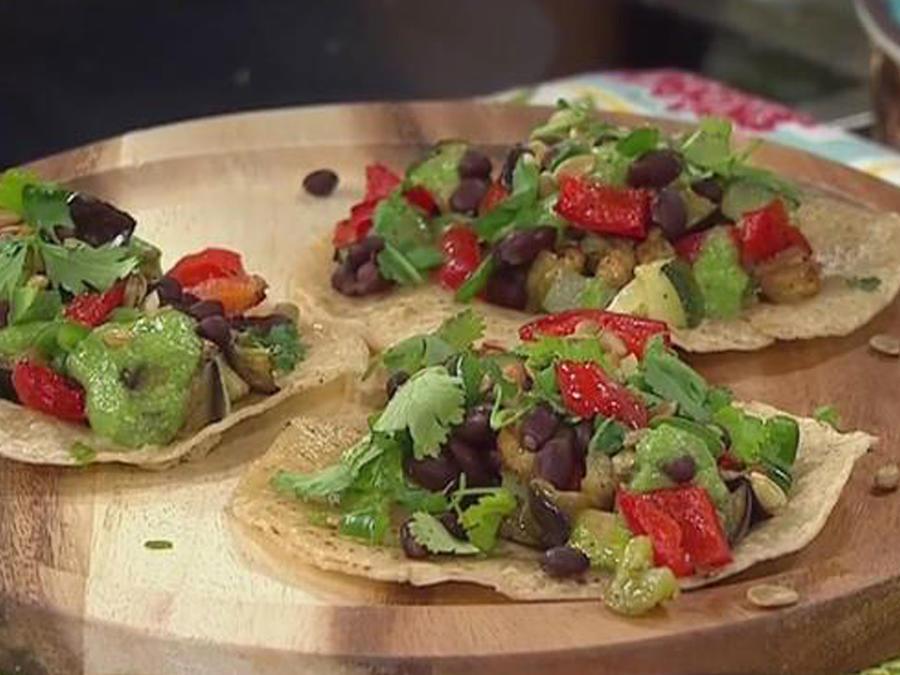 Recetas de cocina: Tacos de Vegetales con Salsa Verde