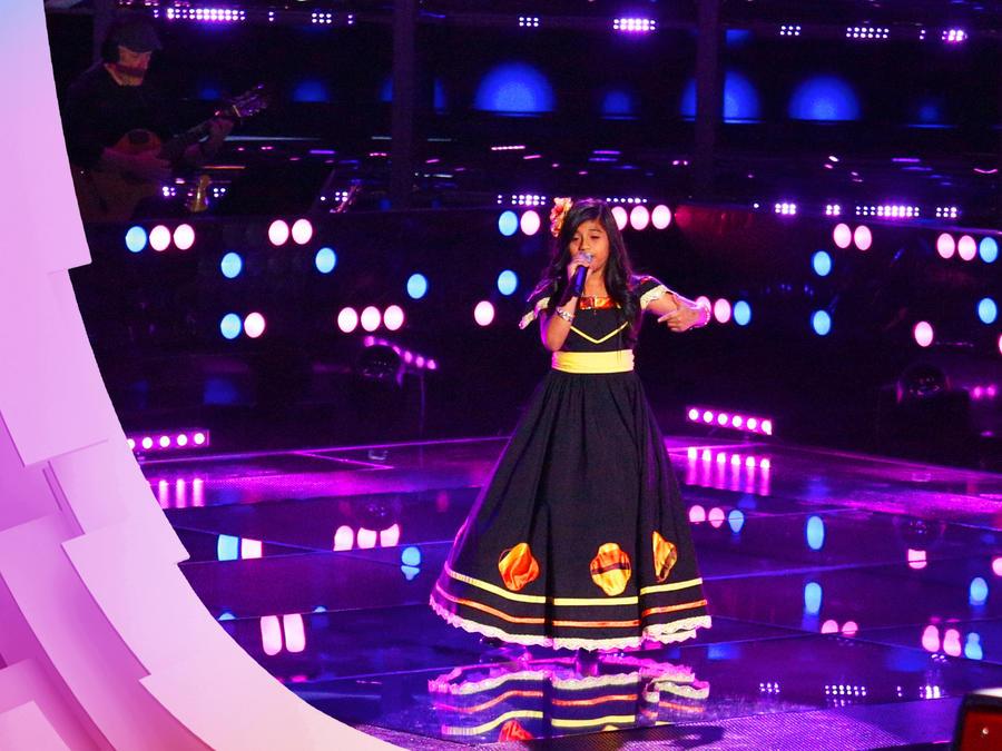 Sharon Pacheco en las audiciones a ciegas de La Voz Kids